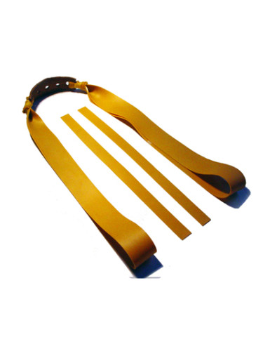 Einhängeschlaufe 2 Fach Sportschleuder-Theraband gold